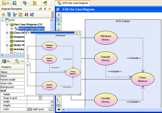 Quick previewer user interface uml case tool quick preivew of use case diagram ccuart Image collections