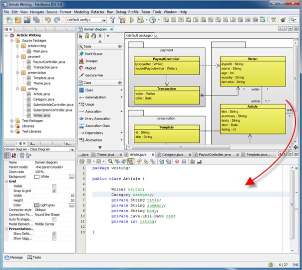 Round-trip Engineering - Visual Paradigm NetBeans ...