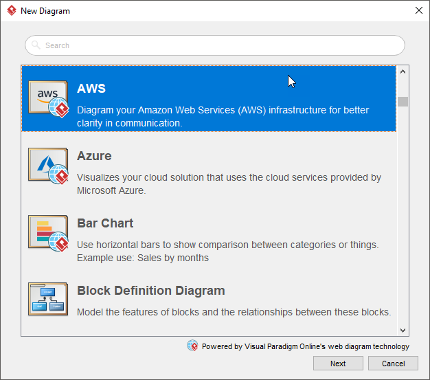 Create new AWS diagram