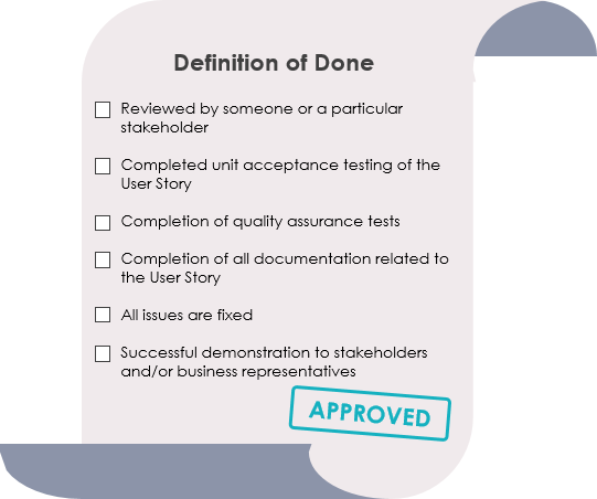Definition of Done (DOD)