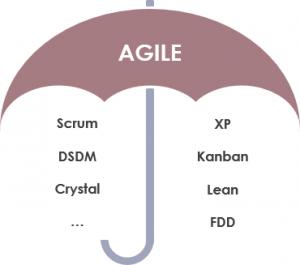Scrum agile umbrella