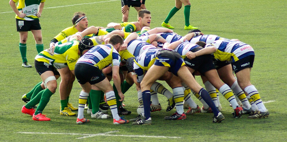 Scrummage in Rugby