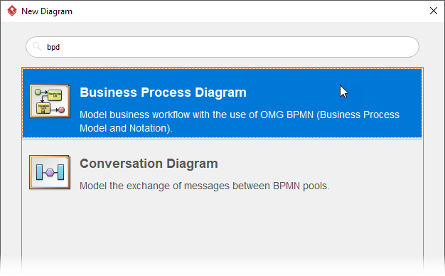 New business process diagram (BPMN)