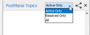 PostMania topics panel filter