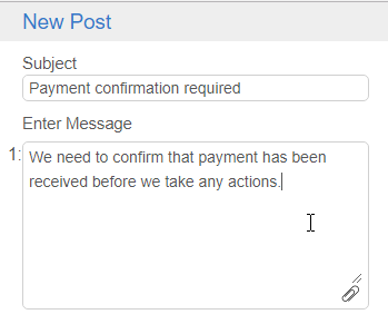 Enter post comment