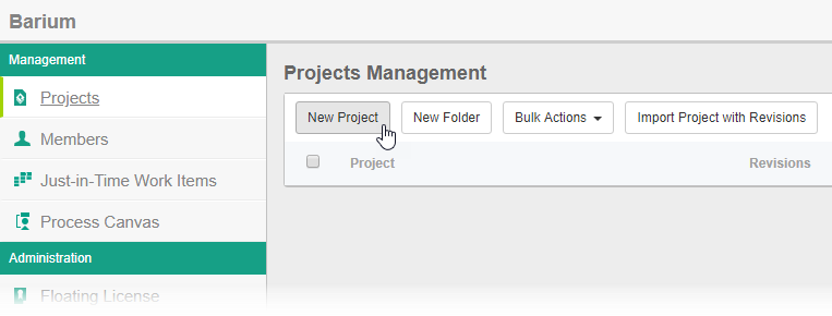To create project